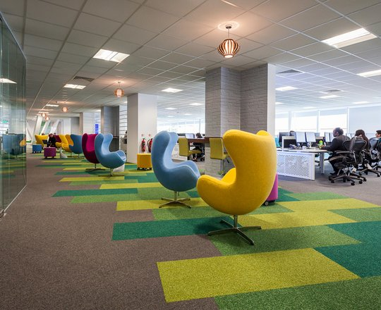 Injecting colour into office design